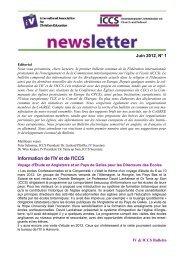 Information de l'IV et de l'ICCS - International Association for ...