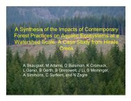 A Synthesis of the Impacts of Contemporary Forest Practices on ...