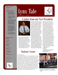 A Letter from our Vice President - Lindenwood University - Belleville