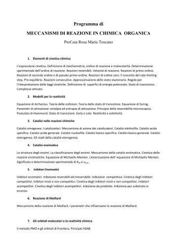 Meccanismi di reazione in chimica organica