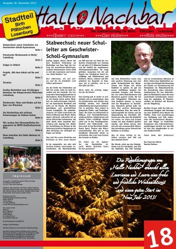 Ausgabe 18, Dezember 2012 - Stadt Velbert