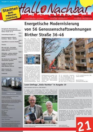 Energetische Modernisierung von 56 ... - Stadt Velbert