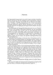 Vorwort der Herausgeber - Septuaginta Deutsch