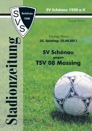 SV Schönau TSV 08 Massing gegen