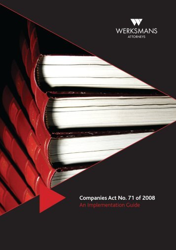 Companies Act – An Implementation Guide - Werksmans Attorneys