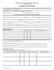 Application Form - Trinity Health