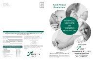PERINATAL MEDICINE and WOMEN'S HEALTHCARE - Trinity Health