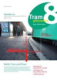 Download des Newsletters 1/13 - Tram8.info