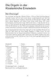 Orgelbeschreibungen mit Disposition - Kloster Einsiedeln