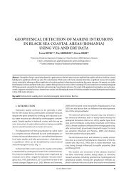 Geophysical detection of marine  intrusions in Black ... - GeoEcoMar