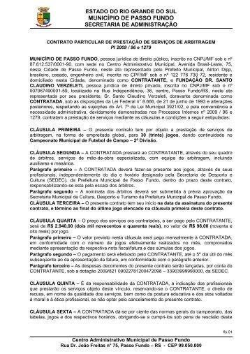 contrato particular de prestação de serviços de arbitragem