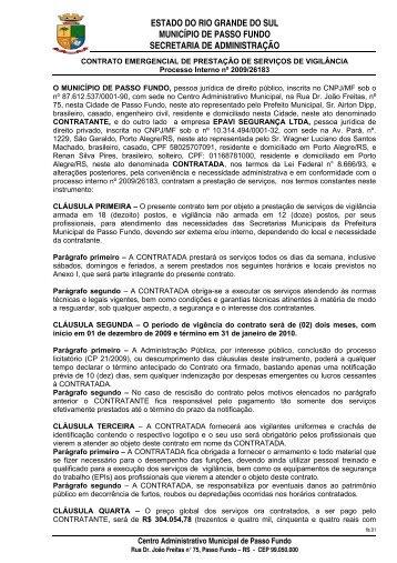 contrato emergencial de prestação de serviços - Prefeitura ...