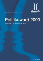 Politikaward 2003 - Menschen für Medien