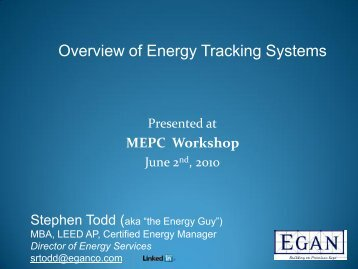 Overview of Energy Tracking Systems - Stephen Todd - Mepc-mn.org