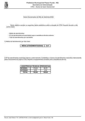 Prefeitura Municipal de Passo Fundo - RS
