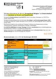 """Wichtige Informationen für alle mit """"Evangelische Religion"""" als ..."""
