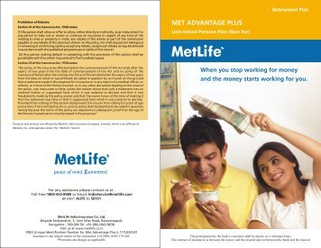 Met Advantage Plus Brochure