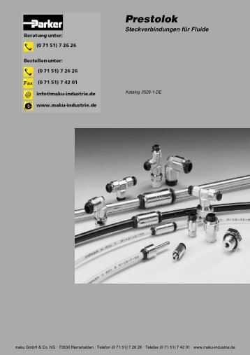 73-3528-1-DE Prestolok Steckverbindungen für Fluide - Parker