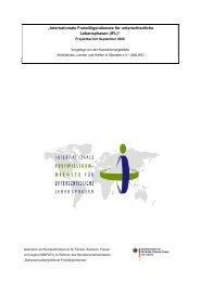 """Dokumentation über den Stand des Projektes """"Internationale ..."""