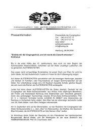 Taufe der Alsterschüte 'Else' - Alster-Schleusenwärter Hamburg