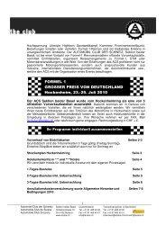 Grosser Preis von Deutschland Hockenheim - Sektion beider Basel