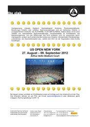 US OPEN NEW YORK 27. August – 09. September 2012