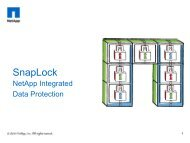 NetApp SnapLock