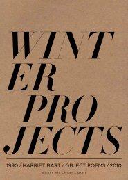 1990 / harriet bart / object poems / 2010