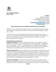 For Immediate Release May 9, 2013 Contact ... - The City of Powell