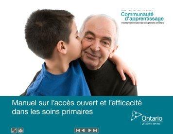 Manuel sur l'accès ouvert et l'efficacité dans les soins primaires