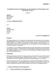 Partnervertrag Anhang 1 Schnittstellenvertrag - CH Domain
