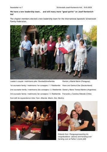 We have a new leadership team… and still many more - Schönstatt ...