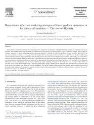 Determinants of export marketing strategies of forest products ...