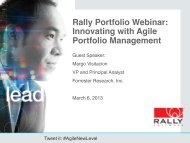 Innovating with Agile Portfolio Management - Rally Software