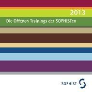 ist der Trainingskatalog 2013 als PDF - SOPHIST