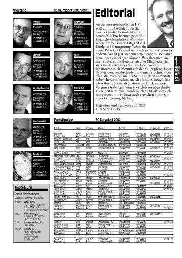 1 Editorial - Sportclub Burgdorf