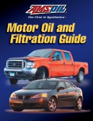 G52 - Motor Oil and Filtration Guide - AMSOIL Synthetic Motor Oil