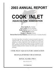 2003 Annual Report - Cook Inlet Aquaculture