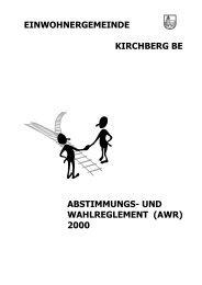 Abstimmungs - zur Gemeinde Kirchberg