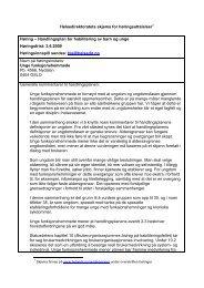 Høringssvar på Handlingsplan for habilitering av barn og unge (PDF)