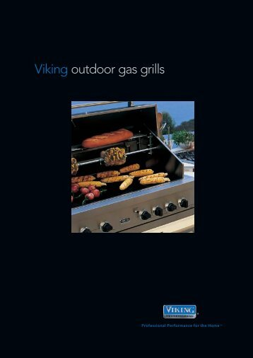 Viking outdoor gas grills - Viking Range Corporation
