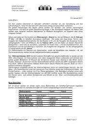 Scheffel-Gymnasium Lahr Elternbrief Januar 2011 Seite 1 von 2 19 ...