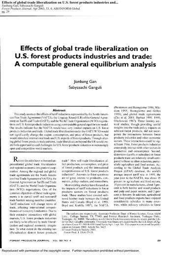 implications of liberalizing trade and investment Resilience and food security as the central objectives of trade and investment for  agriculture, and taking account of  suggested citation: clapp, jennifer (2014)  trade liberalization and food  implications for food security 11 an outdated .