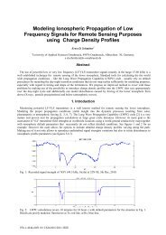 Modeling ionospheric propagation of low frequency signals for - URSI