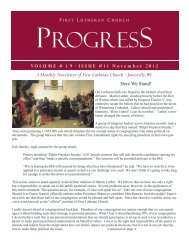 A Monthly Newsletter of First Lutheran Church · Janesville, WI