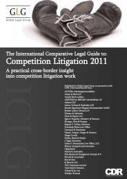 Competition Litigation 2011 - BARNERT EGERMANN ILLIGASCH ...