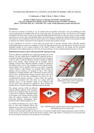 INTEGRATED MICROWAVE ANTENNA SYSTEMS IN ... - URSI