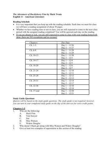 huck-finn-reading-schedule-and-study-gui