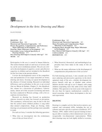 Development in the Arts: Drawing and Music - Early Pictures