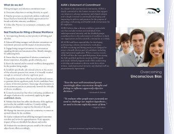 Overcoming Unconscious Bias